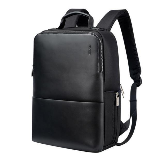 Contemporary Waterproof Leather Laptop Backpack