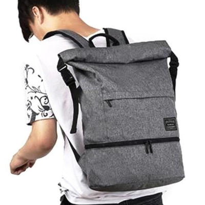 Waterproof Oxford Convertible Roll-Top Anti-Theft Backpack