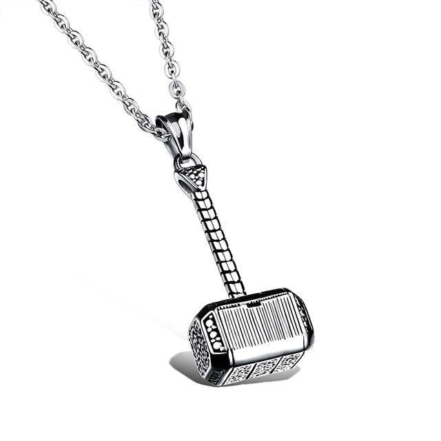 Necklaces Vintage Thor Hammer Pendant Necklace