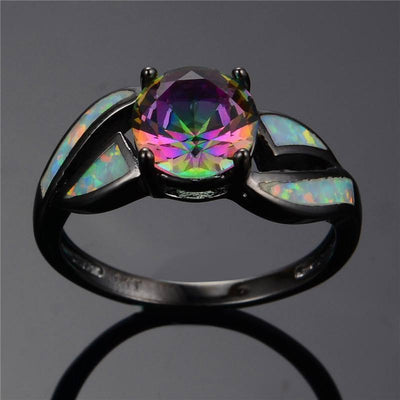 Brilliant Boulder Midnight Opal Ring - Rings - Ring to Perfection
