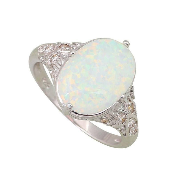 White Fire Opal Sterling Silver Ring - Ring to Perfection