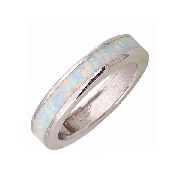 White Opal Sterling Silver Ring - Ring to Perfection