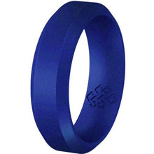 Load image into Gallery viewer, Indigo Dark Purple Bevel Edge Silicone Ring For Men