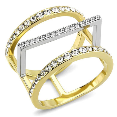 Rings Two-Tone Gold Plated Stainless Ring