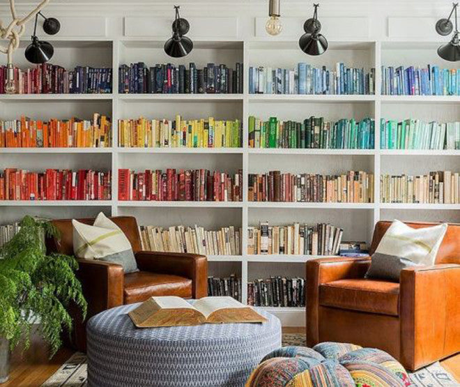 Reading Rainbow: Design Inspiration for Decorating with Books