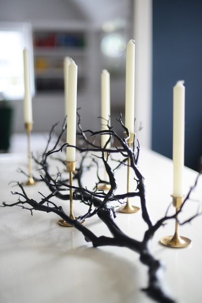 Modern Halloween Branch Centerpiece Decor Ideas from Narrative