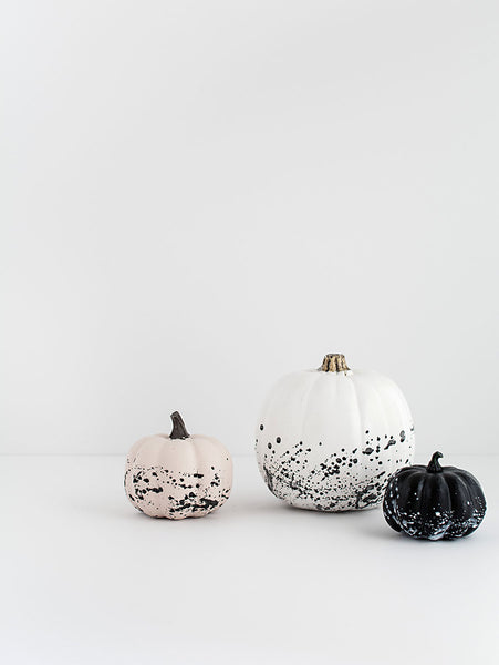 Splatter Painted Pumpkins Halloween Decoration from Narrative