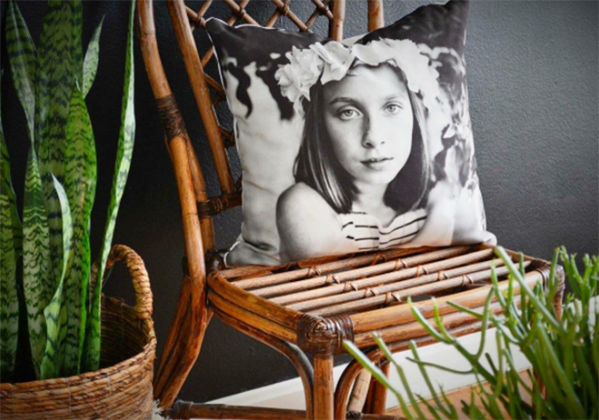 Custom Fine Art Black and White Photo Pillow by Narrative Decor
