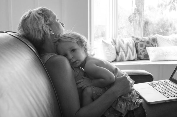 Narrative Decor Founder Kara Greenwell Holding Daughter