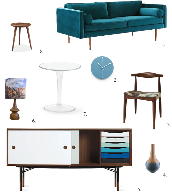Roundup of Mid Century Modern Style Home Furniture and Decor