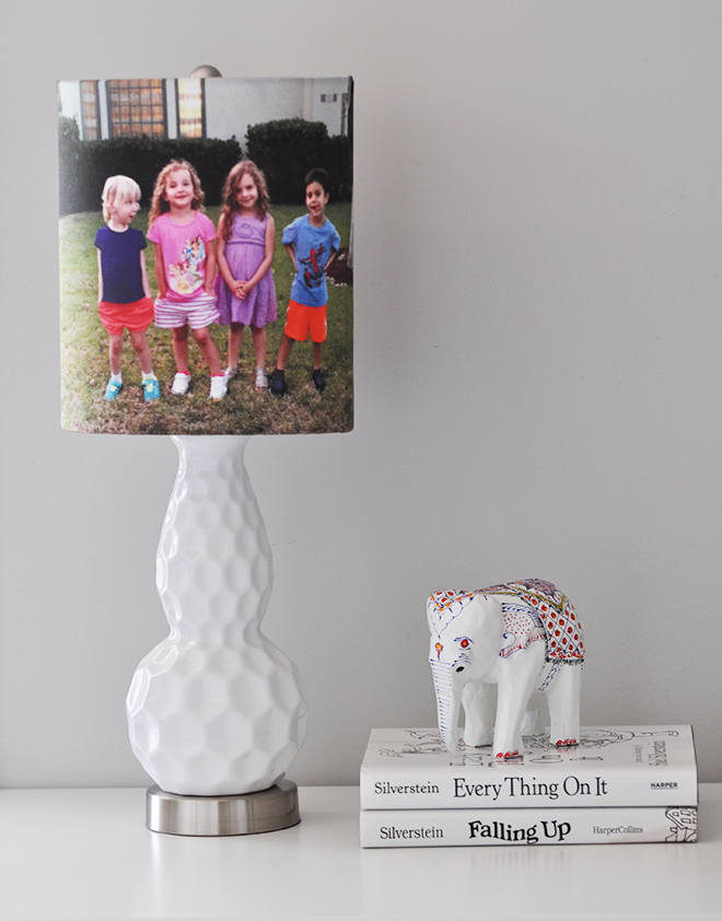 Modern Lamp with Custom Photo Lampshade by Narrative Decor