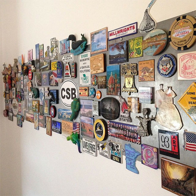 Display Wall of Magnets