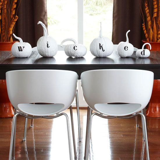 Modern Painted Pumpkin Centerpiece Design Inspiration from Narrative Decor