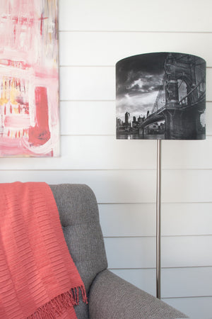 Suspension Bridge Drum Shade - Narrative Decor - 1