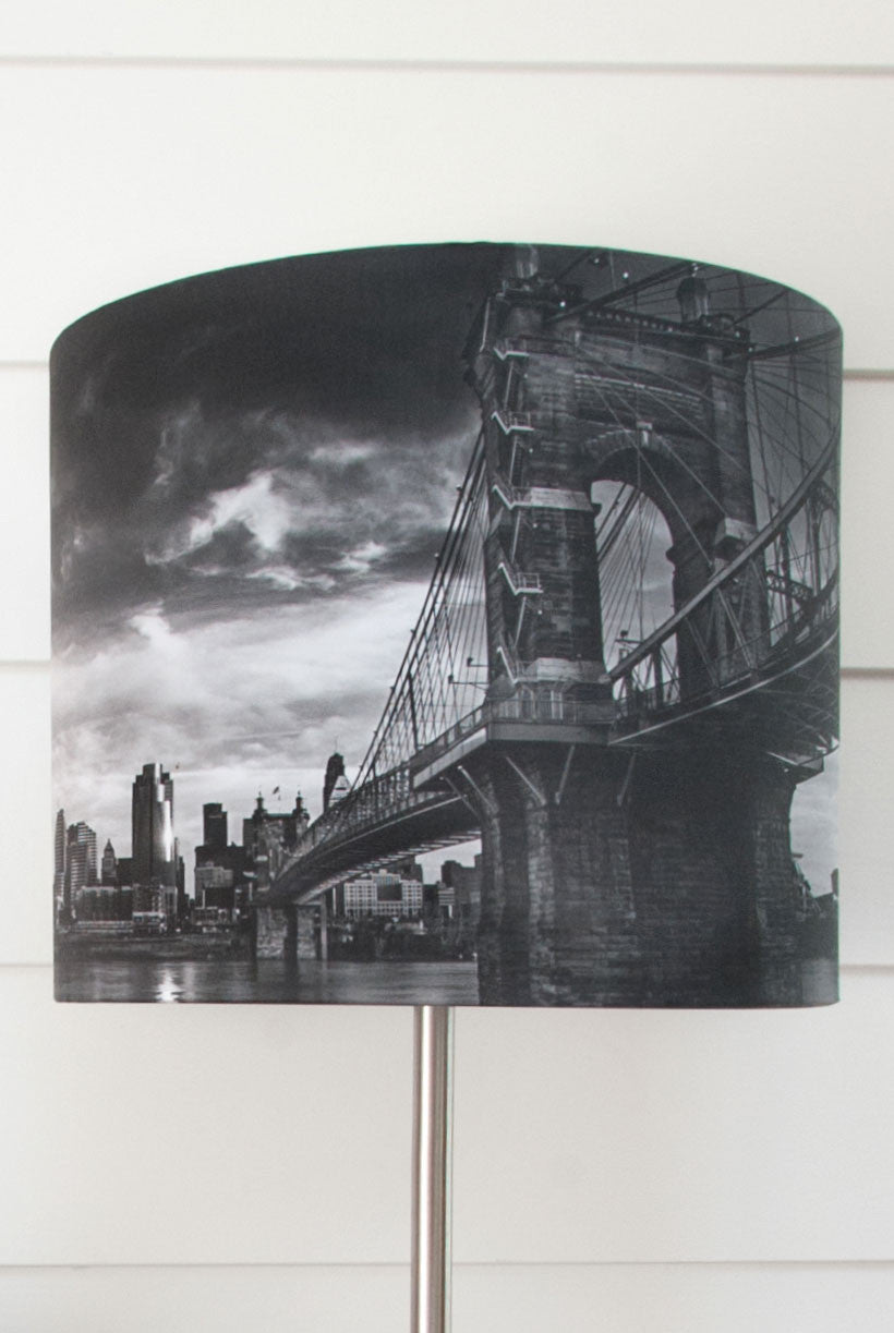 Suspension Bridge Drum Shade - Narrative Decor - 2