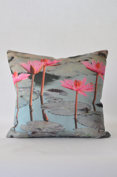 Lotus Flower Pillow - Narrative Decor