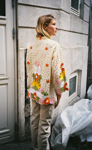 SAKURA VINTAGE - CUTWORK EMBROIDERED JACKET