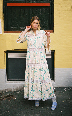 SAKURA VINTAGE - COTTON LACE MAXI DRESS