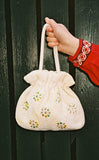 SAKURA VINTAGE - BEADED DRAWSTRING BAG