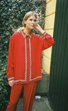 SAKURA VINTAGE - RED SILK PYJAMAS