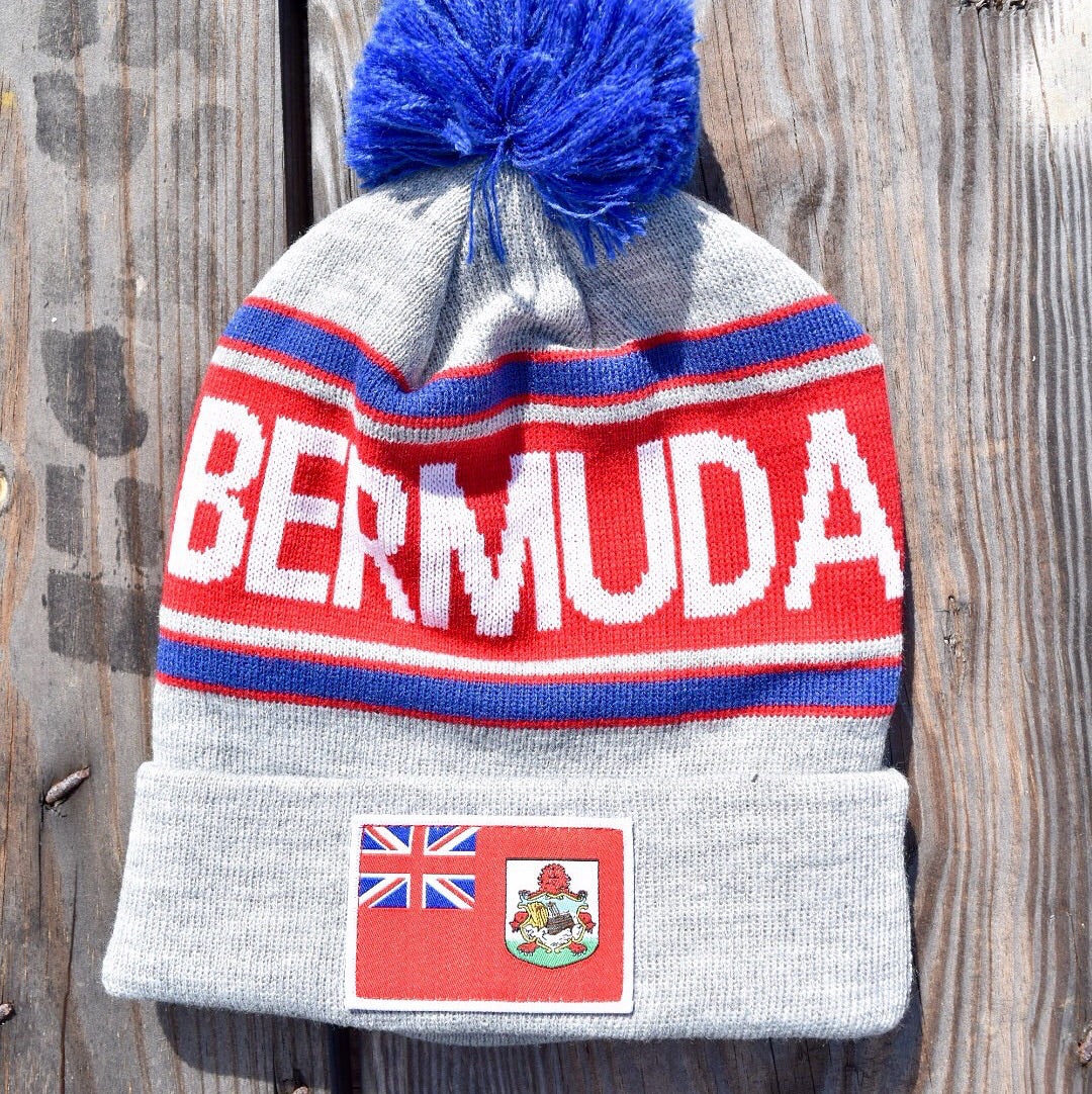 Bermuda Beanie - Grey with Flag Patch