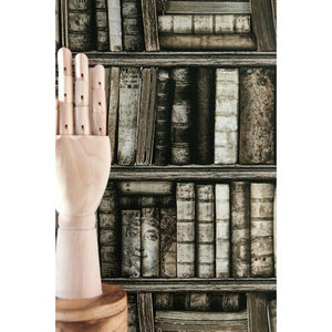Antique Bookcase Wallpaper