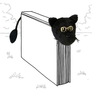 Book-Tails Bookmark - Black Cat