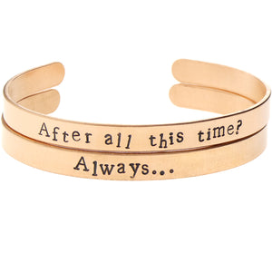 'After All This Time ... Always' Bangle Set