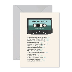 Agatha Christie Mixtape Card