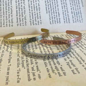 Alice in Wonderland Bangle Set