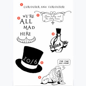Alice in Wonderland Temporary Tattoos