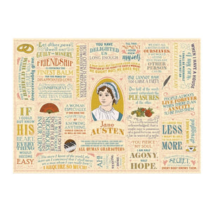 Jane Austen Quotations 1000 Piece Jigsaw Puzzle
