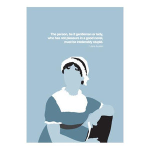 Pleasure in a Good Novel... Austen Quotation Card