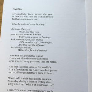 Poetry Instead of a Card - Ten Poems from Ireland
