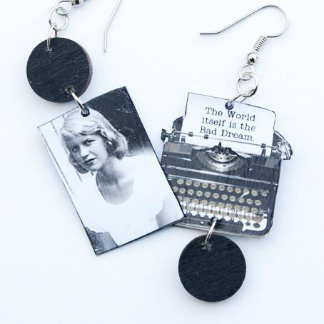 Sylvia Plath Typewriter Earrings