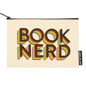 Zipped Pouch - 'Book Nerd'