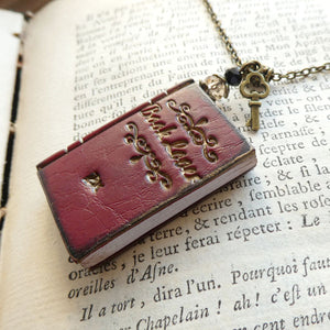 'Book Lover' Necklace - Red