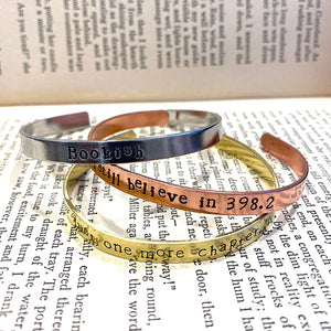 Bookish Bangle Set