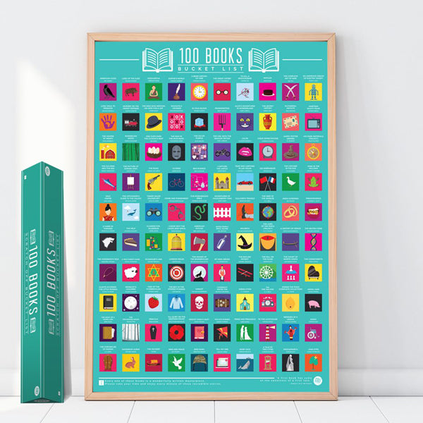 100 Things To Do - Scratch Off Bucket List Poster - The ...