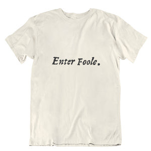Enter Foole First Folio T-shirt - Choice of Shapes/Styles
