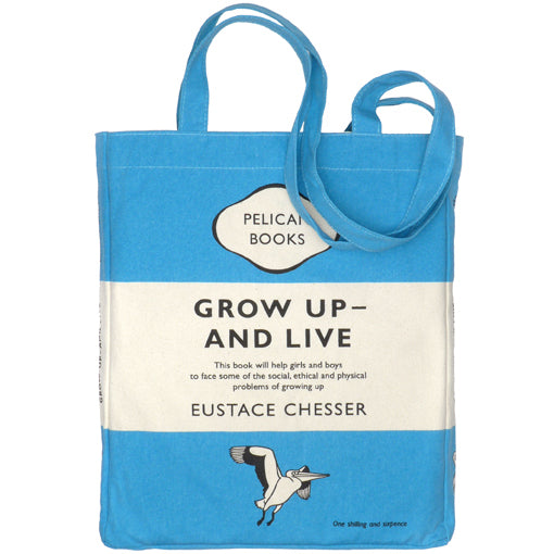 Grow Up and Live Penguin Tote Bag