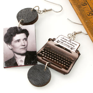 Georgette Heyer Typewriter Earrings