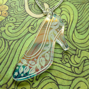 Glass Slipper Pendant