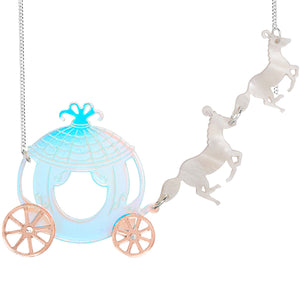 Horse and Carriage Necklace