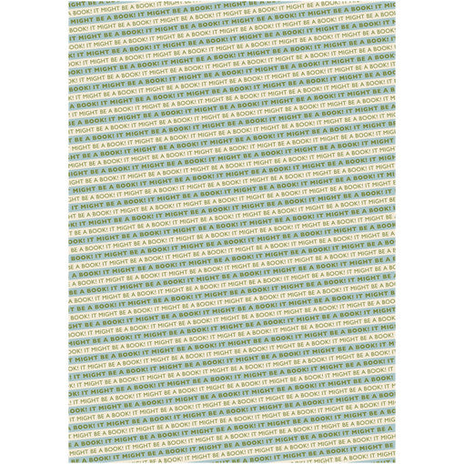 It Might Be A Book! Wrapping Paper Blue/Green
