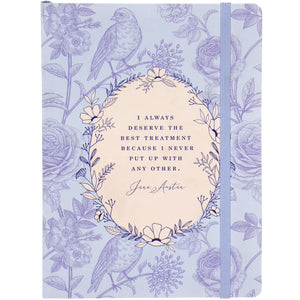 Jane Austen 'I Deserve the Best Treatment' Notebook