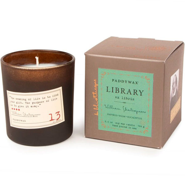 William Shakespeare Library Candle