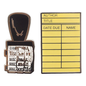Library Card Pin Set