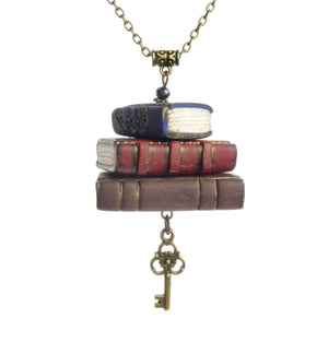 Mini Library Book Necklace