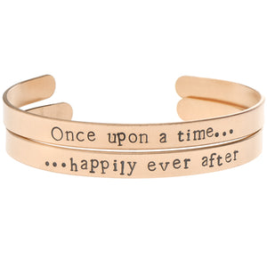 'Once Upon A Time ... Happily Ever After' Bangle Set